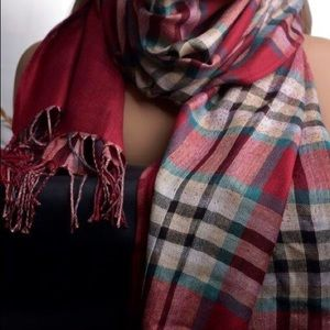 Accessories - Red plaid scarf